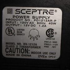 SCEPTRE 120VAC /12VDC,1.2A Power Supply, PD1212AR-P