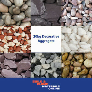 Decorative Aggregates  Slate - Chippings - Gravel - Pebbles - Gardens - 20 Kg