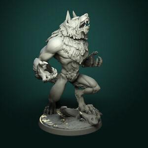 Furious Werewolf Miniature   D&D DnD   Warhammer   Wargame  Pathfinder   RPG