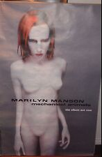 "BUS SHELTER 40x60"" POSTER~Marilyn Manson Mechanical Animals 1997 Album Promo NOS"