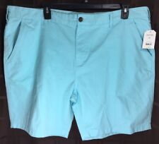 Men's NWT FADED GLORY  Size 46 Light Turquoise 100% Cotton Flat Front Shorts