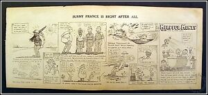 Sunny France Is Right After All, Helpful Hints #18 WW1 Cartoon by Wally Wallgren