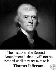 Thomas Jefferson Second Amendment Quote 8 x 10 Photo Picture #s1