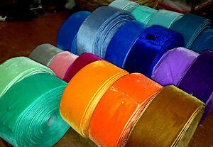 "Vintage 2"" Velvet Ribbon 1yd Made in Switzerland"