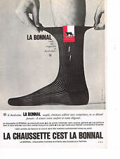 PUBLICITE ADVERTISING  1963   LA BONNAL   chaussettes