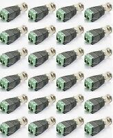 20PCS Bulk Coax CAT5/6 To Camera CCTV BNC Video Balun Connector RG59 Coaxial TV