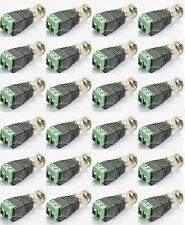 Coax CAT5/6 To Camera CCTV BNC Video Balun Connector RG59 Coaxial Cable  2PCS