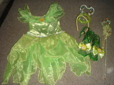 THE DISNEY STORE TINKERBELL COSTUME DRESS XS 4 SHOES &