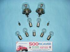 FIAT 500 F/L/R KIT COMPLETO LAMPADINE X FARI + FANALINI + FRECCE LUCCIOLE TARGA