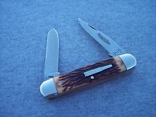 REMINGTON * USA BROWN STAG A LON MUSKRAT KNIFE KNIVES