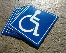 Handicap  Logo Sign Decal  Sticker (set of 6  ) 5x5 in. #3
