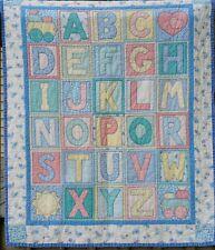 ABC Alphabet Nursery Quilt Baby Blanket Unisex Neutral