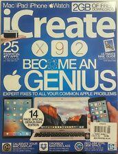 iCreate UK Issue 155 Become An Genius Mac iPad iPhone Watch FREE SHIPPING sb