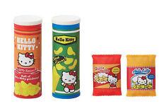 Sanrio Hello Kitty Parody Snack Food Potato Chips Bag 4pc Complete Set Erasers