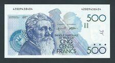 F.C. BELGICA BELGIUM , 500 FRANCOS 1982/98 , S/C- (AUNC) , FIRMAS 5-15 , P.143a