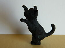 Dolls House Emporium Miniature 1 12th Scale Animal Resin Black Poppy Cat (2916)