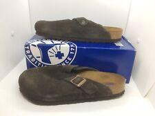 BIRKENSTOCK Womens Boston Mocha Brown Suede Clog Shoes Sz 11 EU42 ZB6-1097