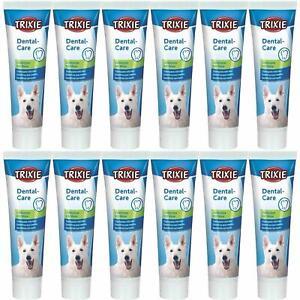 12 x Trixie Dog Toothpaste With Mint Prevents Teeth Tartar/Freshens Breath 100ml