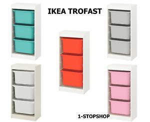 IKEA TROFAST Storage Combination With Children's Play Plastic Boxes 46x30x94cm