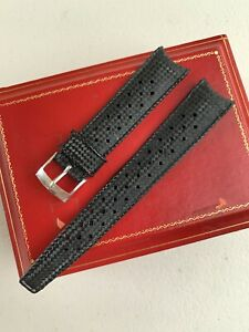1970s NOS 19mm Tropic Curved Ends Rubber Diver Skindiver Strap Watch Band Offer