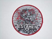 TESTAMENT THRASH METAL WOVEN PATCH
