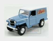 Jeep Willys Station Wagon 1954 Light Blue White LUCKY DIECAST 1:18 LDC92858AB Mo