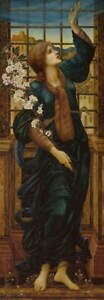 Edward Coley Burne Jones Hope Poster Reproduction Paintings Giclee Canvas Print