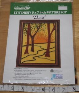 Wonder Art  Creative  Needle  Stitchery  Picture Kit   Dawn #5110