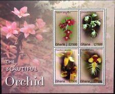 GHANA 2007 3941-44 Block 486 Orchideen Orchids Blumen Flowers Flora Plants MNH