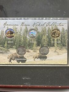 2005 american bison nickle collection 5 coin set