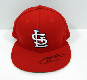 St. Louis Cardinals Trey Nielson # Signed Red Hat Auto 7.25 STLC0553