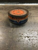 Vintage Firestone Automobile Cleaner Tin Can Automotive Advertising With Content