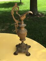 Antique Vintage Ornate Brass Ewer Urn Pitcher Vase