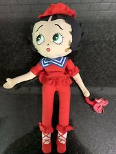 Betty Boop 2004 18� Plush Doll Red Pant Suit Hat Umbrella