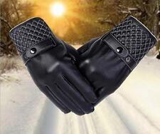 2017冬季男士保暖時尚個性手套仿真皮PU保暖手套