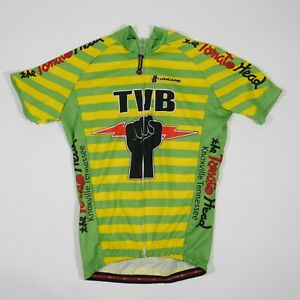 Tomato Head Cycling Jersey Adult Small Green Full Zip Knoxville TN TVB Mens