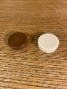 """Backgammon Replacement Checker Chip 1 1/4"""" Brown & Ivory/Cream Game Pieces"""