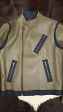 NWT TOMMY HILFIGER  COLLECTION RUNWAY BIKER JACKET 42 40 L ITALY WOOL LINED