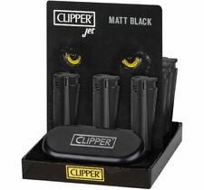 Clipper Original Metal Jet Flame Sturmfeuerzeug Black Schwarz mit Etui