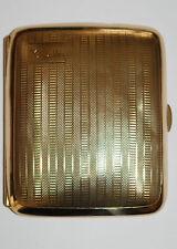 Cigarette Case 9 Ct Gold Art Deco Hallmarked Birmingham 1927