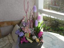 Handgefertigte Deko-Blumen & künstliche Pflanzen aus Materialmix