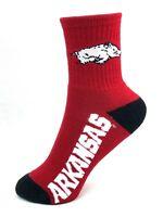 NCAA Arkansas Razorbacks Deuce Quarter Red Youth Socks
