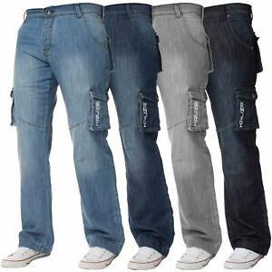 Herren Cargo Kampfhose Jeans Heavy Duty Arbeit Freizeithose Big Groß Alle Größen