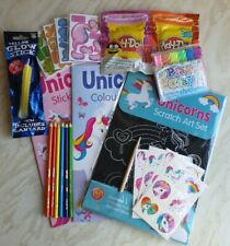 Unicorn Colouring Book Sticker Activity Pack Play Dough Puzzle Tattoo Pack NEW