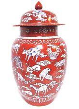 Large Decorative Antique Vintage Chinese Porcelain Vase W Kangxi Mark Sheng Xiao