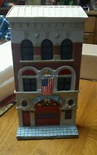 NEW Engine 55 Firehouse Fire Station Wall Mount Collectible American Flag Pretty
