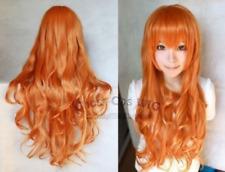 NEW One Piece NaMi Fashion Long Orange Cosplay Wavy Wig+ Gift