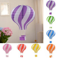 ALS_ 30cm Striped Hot Air Balloon Paper Lantern Kids Birthday Party Decor Splend