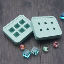 2Pcs Set Ball Cube Silicone Pendant Mold Making Jewelry Resin Necklace DIY Mould
