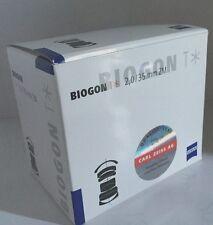 New Carl Zeiss BIOGON T* 35mm f2 ZM Lens for Leica M - BLACK  Made in Japan